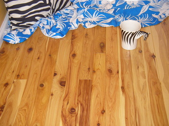 "Photo: Exotic pre-finished Australian Cypress flooring, 3-1/4"" x 3/4"" solid. © all rights reserved."