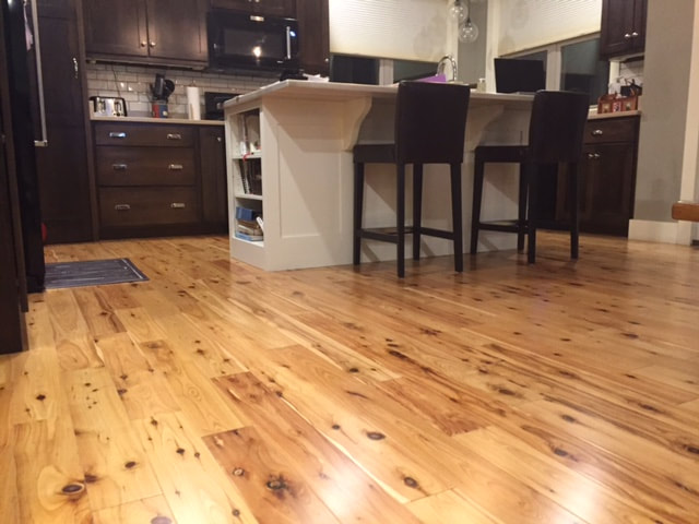 Picture - pre-finished Australian Cypress floor, installed. © 2016.