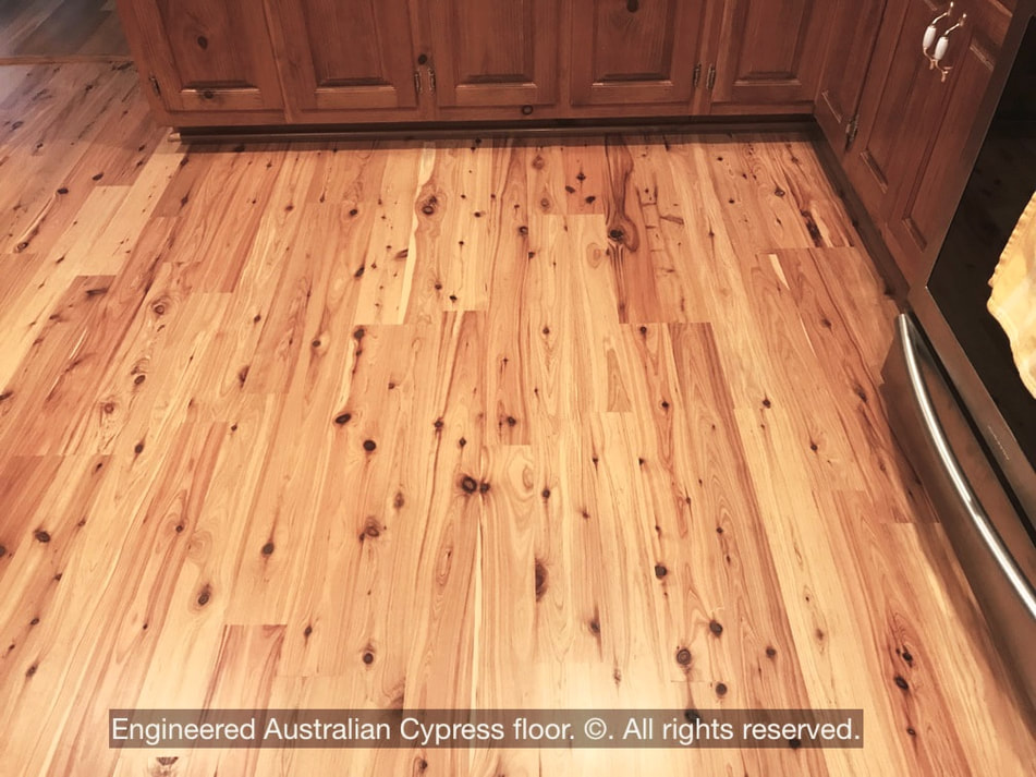 Photo: An engineered Australian Cypress floor. © All rights reserved.